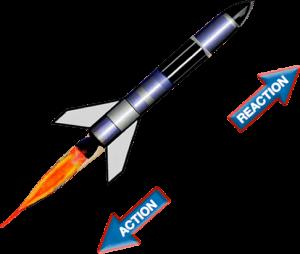 accion reaccion en el cohete