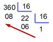 pasar de binario a hexadecimal