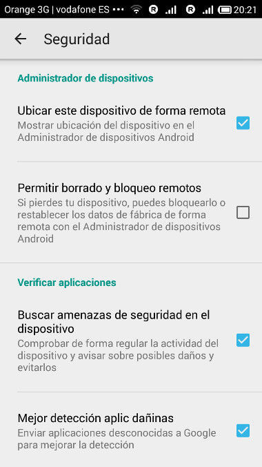 configuracion android divaces manager