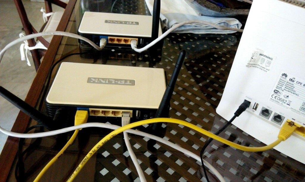 conexión de routers para red