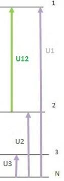relación tensiones linea y fase