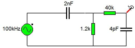 filtro paso banda con condensadores