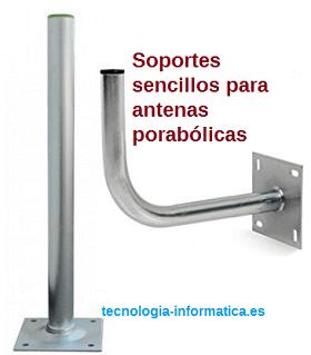 soportes sencillos parabolica