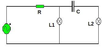 circuito bombila y condensador
